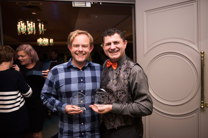 Multiple award winner Greg Watson with Deniz Yusuf. Won the IRE BDM award and the Top Award.... BDM of the Year
