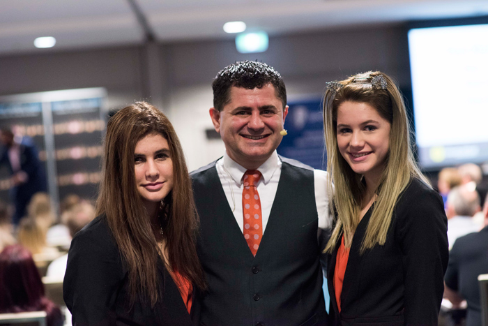 Deniz and his two children who were in charge of registration and evening events Beck & Libby